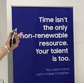 Time isn't the only non-renewable resource. Your talent is too