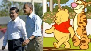 Comparaison entre Winnie l'Ourson et Tigrou d'un côté, Xi Jinping et Barack Obama de l'autre