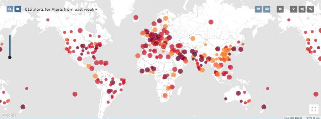Healthmap - coronavirus