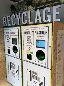 Borne recyclage