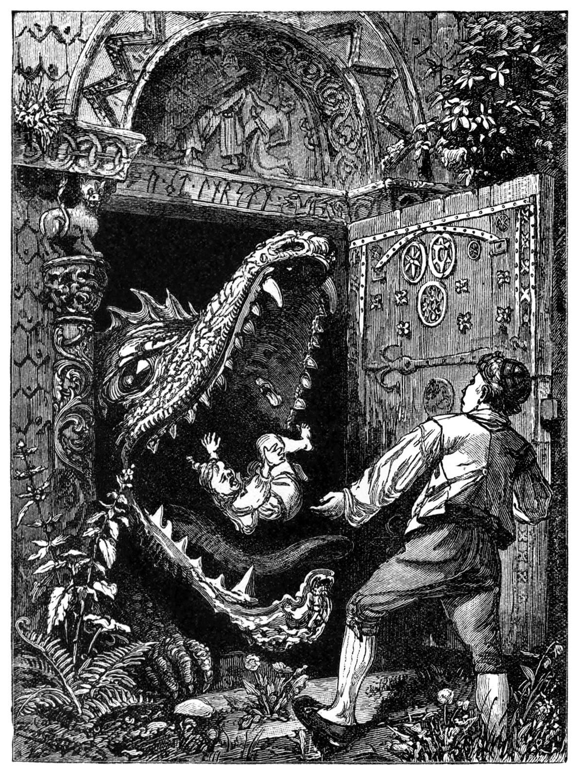 Dragon derrière la porte
