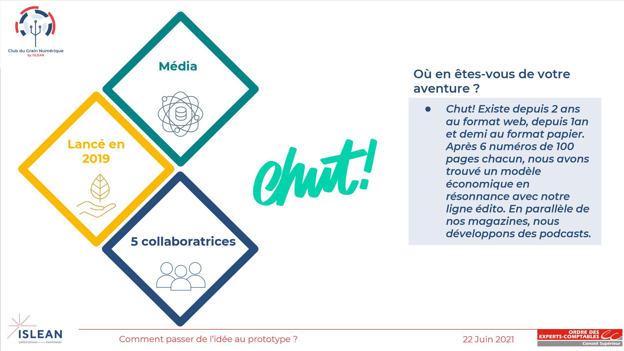 Présentation de Chut! - CGN 2021